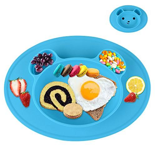 silicone baby plate safe feeding