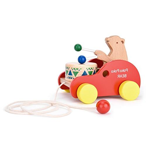 wooden pull along toy