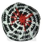 Spider Web Stripes Red White Black Guatemalan Footbag Hacky