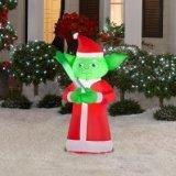 Star Wars Yoda Lighted Airblown Inflatable Father Christmas