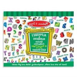 Melissa & Doug Sticker Collection - Alphabet and Numbers - L