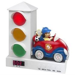 Stoplight Sleep Enhancing Clock, Red and Blue Sports Car - C