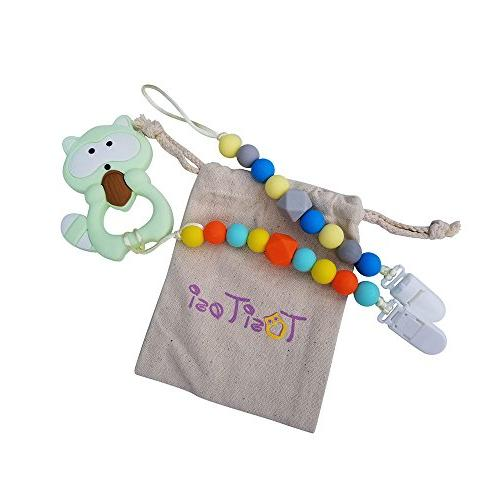 teething chew toy 2 pacifier