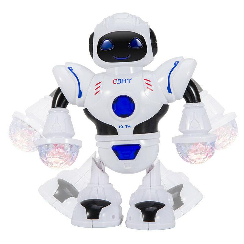 Toys Boys Electric Walking Robot LED Musical Cool Baby