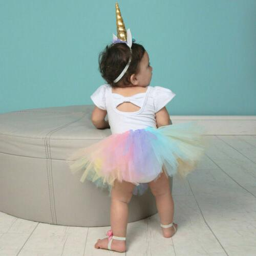 US Baby 1st Romper Tutu Dress Outfit