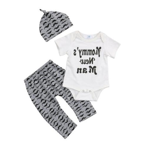 USA Baby Boy Romper Pants Hat Outfits 0-18M