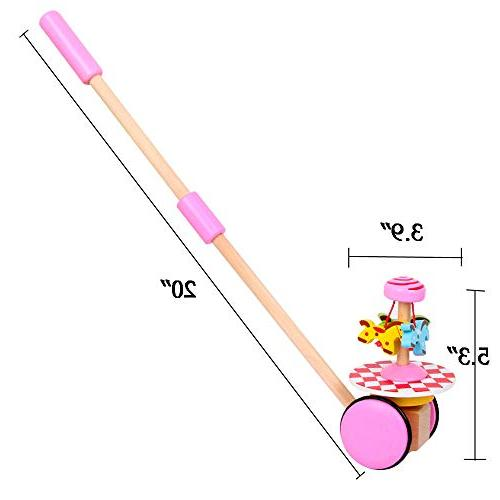 O-Toys Push Pull Walking with Wheel for Girls Months Up