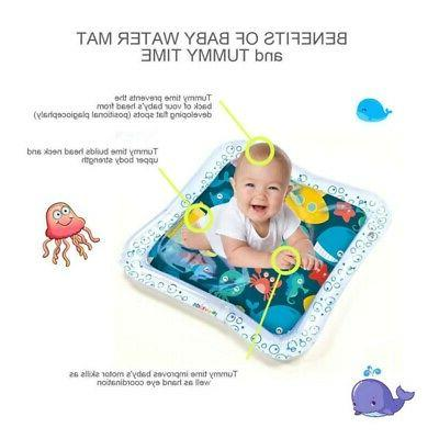 Water Infants Inflatable Tummy Time Play Activity Mat