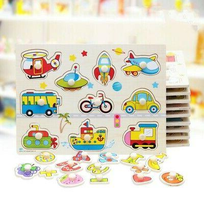 Baby Kids Letter Puzzle Wooden Animal Jigsaw Early Learning