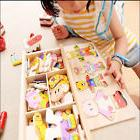 Wooden Baby Bear Changing Clothes Puzzle Set Children Kids E