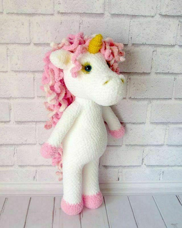 wool knitted unicorn cute toy for gifts