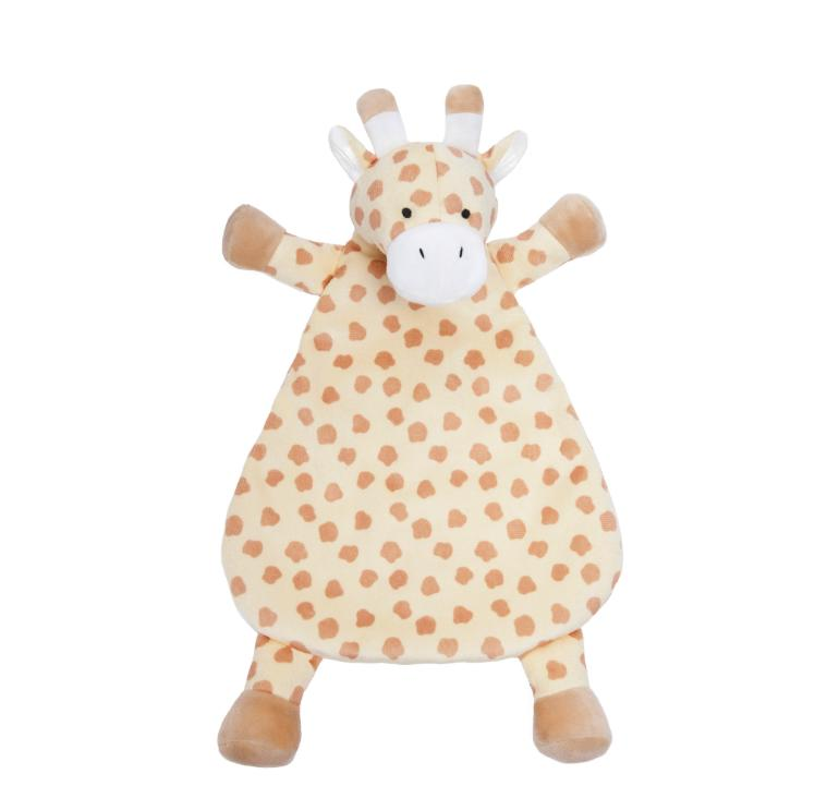 WubbaNub - Giraffe Animal Newborn Baby Rattle - Plush & Sati