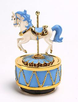 Honeygifts Laxury Carousel Music Box,Christmas Gifts for Kid