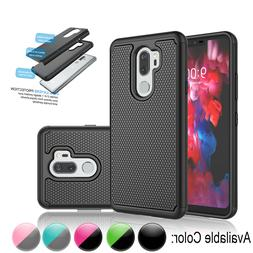 For LG G7 ThinQ / LG G7 Shockproof Case Armor Hybrid Rubber