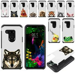 "For LG G8 ThinQ G820 6.1"" Animal Hybrid Bumper Protective Ha"