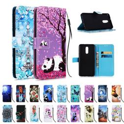 For LG Stylo 5 Stand Phone Case Cover Flip Patterned Leather