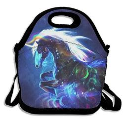 Lightweight Lunch Bag Unicorn In The Dark 3D Animal Prints P