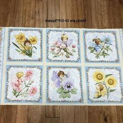 Little Angels & Fairies Cotton Fabric panel blocks for baby