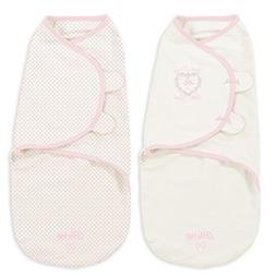 Little Me Original Swaddle 2-PK Thank Heaven for Little Girl