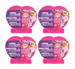 Set of 4 My Little Pony Suprise Fashems Squishy Pops - Heart