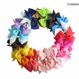 Lot 20pcs Baby Hair Bows For Girls Kids Hair Bands Alligator