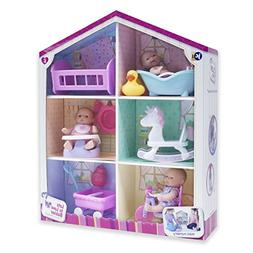 "JC Toys Lots to Love Babies - With 3 5"" Vinyl Dolls, 6 Acces"
