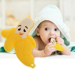 Lovely Banana Silicone Teether Chewable Teething Toys For Ba