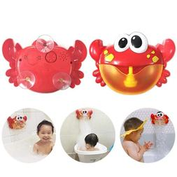 Machine Big Crab Automatic Bubble Maker Gift Blower Music Ba