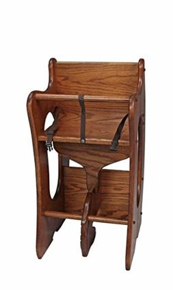 Amish Made Child's 3-in-1 Rocking Horse/High Chair/Desk Comb