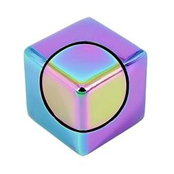 MAGIC CUBE - EDC Mini Cube Design Square Hand Spinner, Alumi