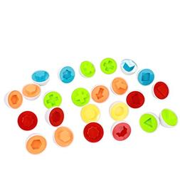 Matching Shapes and Colors Eggs, Educational Game Toy, Enhan