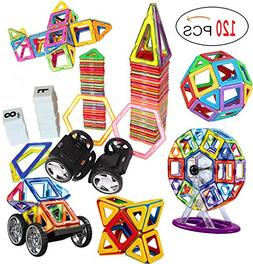 DreambuilderToy 120 PCS Creative Magnetic Building Blocks Se