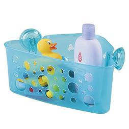 mDesign Kids/Baby Bathroom Shower Suction Corner Basket for