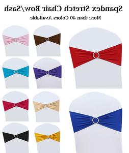 MDS 10 to 200 PCS Spandex Chair Sashes Bow Lycra Slider with