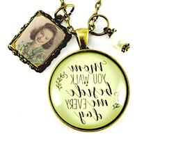 """24"""" Mom Remembrance Necklace You Walk Beside Me Photo Frame"""