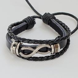 Men's leather bracelet Women's leather bracelet Infinity bra