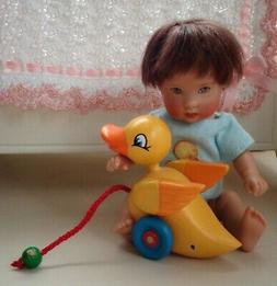 "Mini duck pull toy for Ellery Kish or other 5-10"" baby doll"