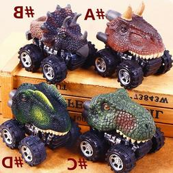 Mini Kids Dinosaur Cars Model Toys Pull Back Vehicle Animal