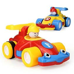 D-Mcark Mini Pull Back Racing Cars Toys for Toddlers Pull an