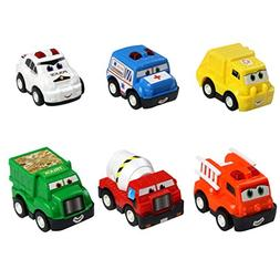Mini Toy Cars Pull Back Car Play Set Cartoon Vehicle Trucks