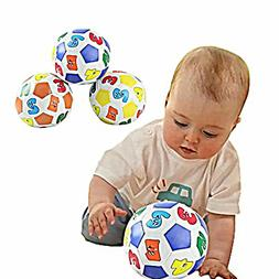 Mini Soft Ball Toy for Children Baby Learning Colors Number