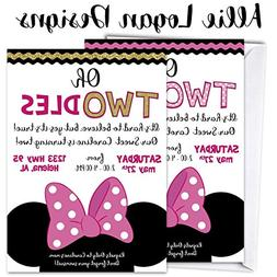 "Minnie Mouse Birthday Invitation ""Oh Toodles""...Any age! Sol"