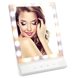 LEJU Mirror with Lights, 2 Power Supply Mode, Natural Warm a