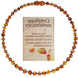Mommy's Touch 100% Natural Amber Teething Necklace  - Anti-I