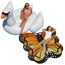 Swimline Monarch Butterfly and White Swan  Swimming Pool Toy