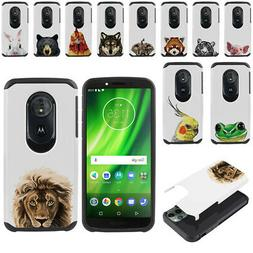 "For Motorola Moto G6 Play 5.7"" Animal Hybrid Bumper Protecto"