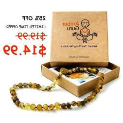 Natural Baltic Amber Necklace For Babies Anti Inflammatory D