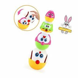 VATOS Nesting Easter Plastic Eggs Toy, Eggs Stacking Toy, St