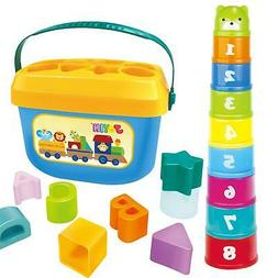 JOYIN Baby Nesting Stack Cups Stack-Up Blocks Cubes Alphabet
