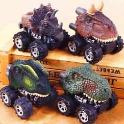 Mini Dinosaur Pull Back Model Car Interactive Toys For Kids